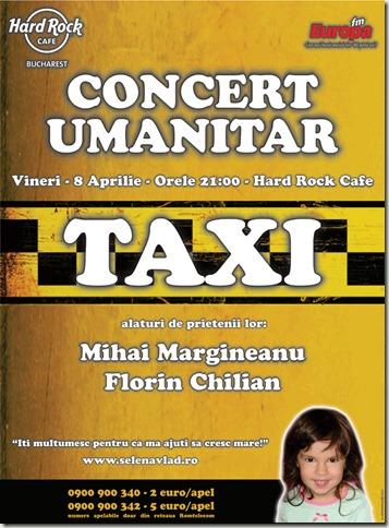 clip image0011 Trupa Taxi si prietenii, Mihai Margineanu si Florin Chilian: Concert umanitar pentru Selena